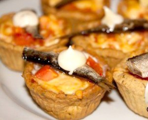 Tartlets with smoked sprats